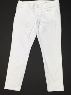 Lilly Pulitzer Worth Skinny Mini Jeans Pants Size 10 White Front Zip 5 Pockets #LillyPulitzer #Skinny