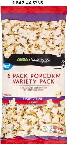 Asda Popcorn Variety Pack Syns Asda Slimming World, Slimming World Syn Values, Slimming World Recipes, Diet Recipes, Healthy Recipes, Sweet And Salty, Free Food, Meal Ideas, Food Ideas