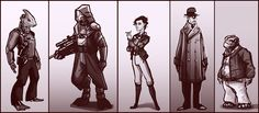 Dieselpunk Aliens by Ineedascotch.deviantart.com on @deviantART