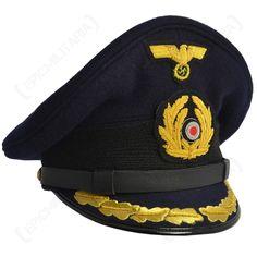 53d246bf58c Kriegsmarine Field Grade Officer Visor Cap Visor Cap