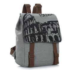 HeartybayVintage England College Fashion Canvas Backpack with Forever printing Canvas Backpack, Backpack Purse, Laptop Backpack, Clutch Purse, Fashion Backpack, Cute Backpacks, School Backpacks, Bag Women, Teen Girl Fashion