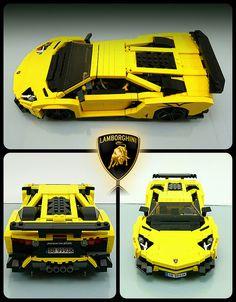 Lamborghini Aventador, Ferrari 458, Lego Cars, Lego Truck, Lego Duplo, Lego Boat, Legos, Lego Autos, Technique Lego