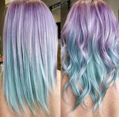 Purple and blue ombre