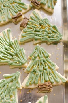 Christmas Sugar Cookies - Cooking With Karli Christmas Cupcakes Decoration, Christmas Tree Cookies, Christmas Sweets, Christmas Cooking, Holiday Cookies, Summer Cookies, Valentine Cookies, Easter Cookies, Birthday Cookies