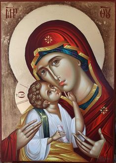 Religious Icons, Religious Art, Byzantine Icons, Blessed Virgin Mary, Orthodox Icons, Blessed Mother, Kirchen, Spirituality, Princess Zelda