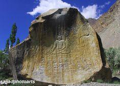 Buddhist rock carving near Skardu