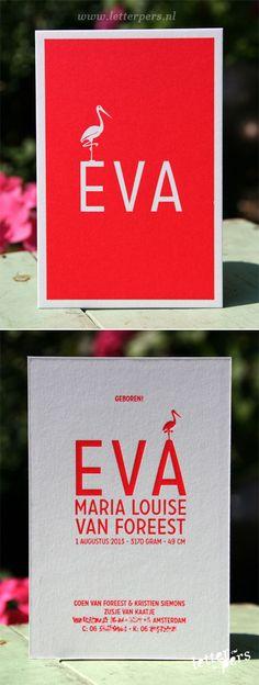letterpers_letterpress_geboortekaartje_Eva_fluor_neon_roze_ooievaar