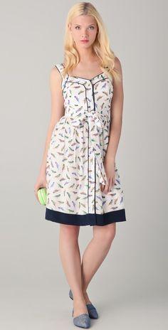 Milly Parakeet Print Jessica Dress