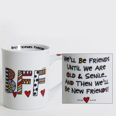 BEST FRIENDS FOREVER - B.F.F. COFFEE MUG Love is in the air. Check Out Post On Valentine's Day Coffee Mugs for More Original Coffee Mugs (http://dailyshotofcoffee.com)