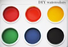 Home made solid water color paints