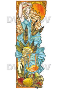 vitraux décoratifs | VIT40G – Femme cocktail effet vitrail - DECO-VITRES - Stickers ...