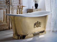 The Brass Bateau with Enamel Interior