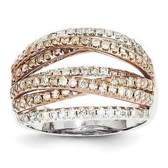 14K White and Rose Gold Diamond Ring SKU: QGY11853AA $100.00
