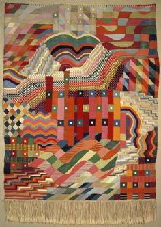#Tapestry design by Gunta Stölzl, produced by the Bauhaus in 1926. Gunta #Stölzl (1897-1983) was a German #textile #artist who played a fundamental role in the development of the #Bauhaus school's weaving workshop. As the Bauhaus's only female master she created enormous change within the weaving department as it transitioned from individual pictorial works to #modern industrial designs. She was inspired by Johannes Itten.