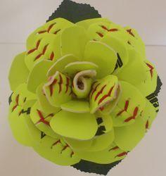 "Softball ""Rose"" In Full Bloom by JustALittleLagniappe on Etsy"