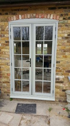 House front windows french doors Ideas for 2019 Upvc French Doors, French Windows, French Doors Patio, Patio Doors, Grey Windows, Windows And Doors, Barn Windows, Upvc Windows, Dormer Windows