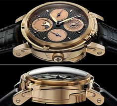 Price: $862,000  When you have a 2,000-year old meteorite within the working tourbillon of a watch, along with 18-carat gold casing, and a core movement which is a little over 100-years old, you would know that's its nothing short of being the rarest amongst the best watches. That's what the Louis Moinet Magistralis watch packs into this master timepiece, whose core movement includes more than 90 bejeweled components, apart from a beating rate of 18,000 vibrations per hour.