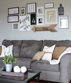 En güzel dekorasyon paylaşımları için Kadinika.com #kadinika #dekorasyon #decoration #woman #women diy-living-room-gallery-wall-design