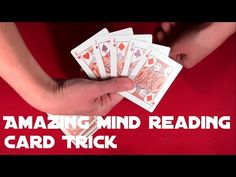 If you like simple and easy mind reading tricks, you'll definitely like this one as well!) It requires some preparation but handling does not involve any sleight of hand so it is perfect for all beginners ; How To Magic Tricks, Card Tricks For Beginners, Easy Card Tricks, Hand Tricks, Mind Reading Tricks, Sleight Of Hand, Card Reading, Playing Cards, Mindfulness
