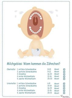 Zwei lange Jahre arbeitet Ihr Baby an seinem Milchgebiss. Hier siehst du, welche… For two long years, your baby is working on his milk dentition. Here you can see which teeth break first. First Tooth, Baby Boy, After Baby, Pregnant Mom, Baby Kind, Baby Needs, First Baby, Baby Hacks, Having A Baby