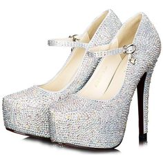 Garyline Metallic Pointed Toe Evening Dress Pump Bridal Heels Prom Party High Heels