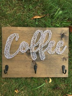 Ready to Ship: Coffee Mug Hanger String Art by EloquentDecor