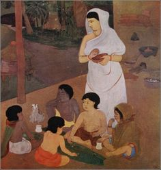 The Festival of Cakes by Nandalal Bose