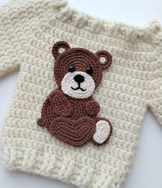 Meet Maria, the crochet designer of Fancy Infancy Crochet! Crochet Bear, Crochet Toys, Free Crochet, Crochet Applique Patterns Free, Baby Ornaments, Crochet Baby Clothes, Stuffed Animal Patterns, Single Crochet, Baby Knitting
