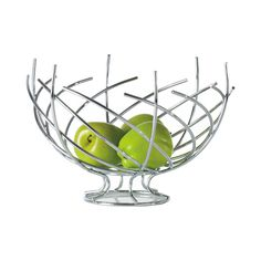 If you dare, bring an exotic work of abstract art into your gourmet kitchen. This Willow Wisp Fruit Bowl takes the wire basket concept to new heights. Its chrome plated rods arch and bend to form a rou...  Find the Willow Wisp Fruit Bowl, as seen in the Lofty Aspirations Collection at http://dotandbo.com/collections/lofty-aspirations-1?utm_source=pinterest&utm_medium=organic&db_sku=108089