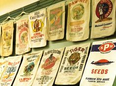 Vintage flour sacks from a private collection-at the MN State Fair