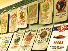 Vintage flour sacks from a private collection-at the MN State Fair Flour Sacks, Collection, Vintage, Vintage Comics
