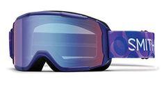 Smith Optics Daredevil Youth Junior Snowmobile Goggles Ultraviolet Dollop / Blue Sensor Mirror
