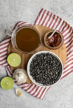 Spicy and hearty, these Instant Pot Chipotle Black Beans are a crowd pleaser! They're easy to make too - all you need is 5 simple ingredients. #instantpot #blackbeans #chipotle #mealprep #beans #vegan #plantbased via frommybowl.com Vegetarian Paleo, Vegetarian Options, Vegan Meals, All You Need Is, Chipotle Black Beans, Bean Recipes, Healthy Recipes, Ground Beef Recipes, Cooker Recipes