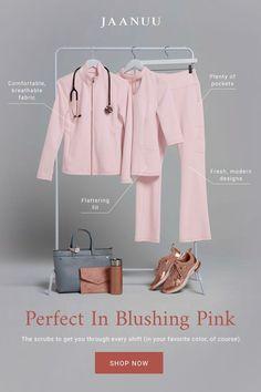 Jaanuu Premium Scrubs and Lab Coats for Medical Professionals. Estilo Fashion, Fashion Mode, Fashion Outfits, Womens Fashion, Scrubs Outfit, Lab Coats, Medical Scrubs, Clothing Photography, Looks Cool