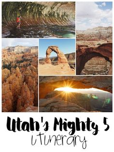 Utah's 5 National Parks in 8 Days. It's possible!