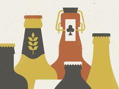 Doublenaut: New art print for the beer lovers: http://shop.doublenaut.com/artprints/bottled/02/