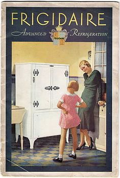 1931 Frigidaire booklet cover (the year freon was introduced as a refrigerant)