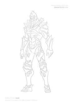 Coloriage Ruin detailed skin from Fortnite Season 8 à