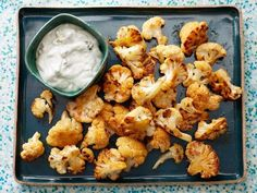 Get Food Network Kitchen's Buffalo Cauliflower with Blue Cheese Sauce Recipe from Food Network