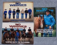 No Worries Clinton Anderson Horsemanship Lot of 3 DVDs
