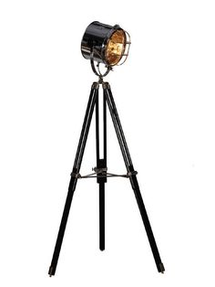 Hollywood Tripod Medium Floor Lamp by 100Essentials at Gilt