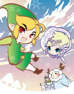 The Legend of Zelda: Spirit Tracks, Toon Link and Toon Princess Zelda