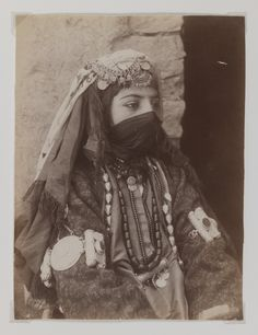 Portrait of Female Member of Shah's Family, One of 274 Vintage Photographs, late 19th-early 20th century. Albumen silver photograph, 8 1/8 x 6 1/8 in. (20.7 x 15.6 cm). Brooklyn Museum, Purchase gift...