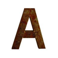Big, rusty letters. 355 sek.