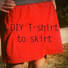 Old T-shirt Crafts--Tshirt skirt