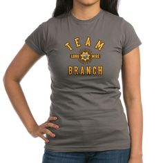 """These """"Team Branch"""" graphic tees and other items are for fans of the TV show Longmire and Deputy Branch Connally."""