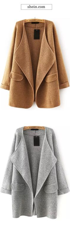 The Drape Cardigan features open front design,delicate seaming and warm soft fabric. You can easily take it! Find more fall essentials at CUPSHE.COM Camel color Loose Sweater, Sweater Coats, Sweaters, Sweater Jacket, Looks Style, Style Me, Wild Style, Drape Cardigan, Winter Looks