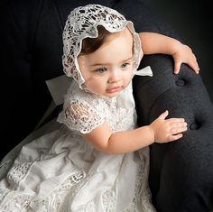 Grace Christening Gown & Bonnet by BabyBeauandBelle on Etsy