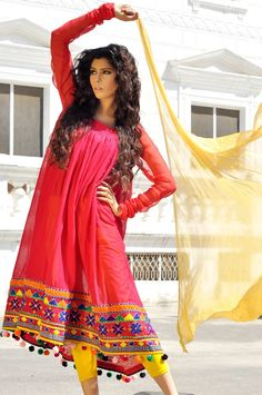 Arfa's Latest Pakistani Girls summer lookbook Dress Collection 2013 – 11