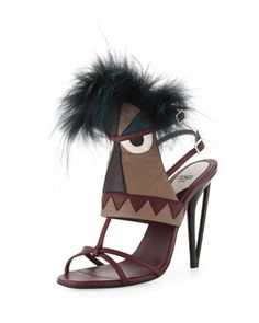 Leather Monster Bootie Sandal by Fendi at Bergdorf Goodman.